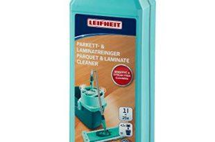 Leifheit Parkett/Laminatreiniger 1000 ml Konzentrat, Parkettpflege ohne Schlieren und Wasserrückstände, schonender Parkettreiniger mit Fugenschutz